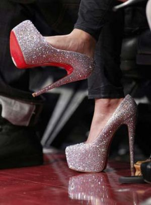 Festive frockage ideas - mylusciouslife.com - silver sparkly heels with red sole.jpg