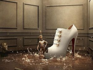 Festive frockage ideas - mylusciouslife.com - white christian louboutin christmas shoes.jpg