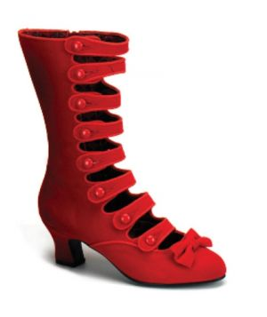 Red WHIMSEY Heel 8 Strap Velvet Calf Boot by Bordello Shoes.jpg