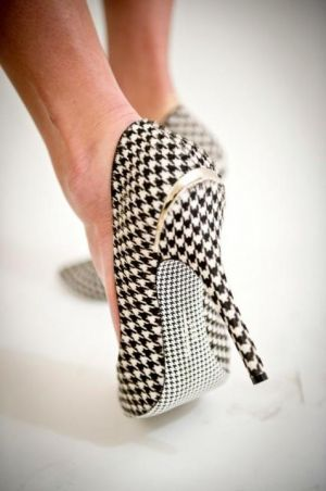 festive frockage ideas - mylusciouslife - black and white herringbone heels.jpg