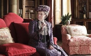 Downton Abbey and Highclere Castle interiors - Maggie Smith lounging.jpg