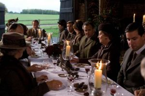 Downton Abbey and Highclere Castle interiors - dining in the barn.jpg