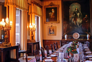 Downton Abbey and Highclere Castle interiors - dining room.png