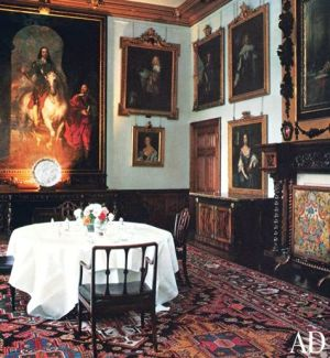 Downton Abbey and Highclere Castle interiors - dining room2.jpg