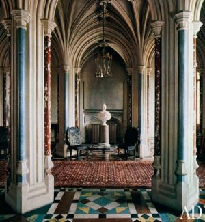 Downton Abbey and Highclere Castle interiors - entrance hall.jpg