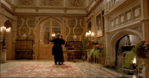 Downton Abbey and Highclere Castle interiors - hall.png