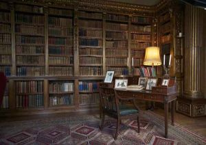 Downton Abbey and Highclere Castle interiors - library3.jpg