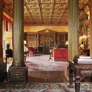 Downton Abbey and Highclere Castle interiors - library4.jpg