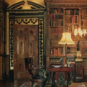 Downton Abbey and Highclere Castle interiors - library5.jpg