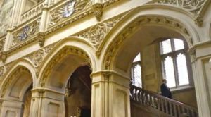 Downton Abbey and Highclere Castle interiors - staircase.jpg