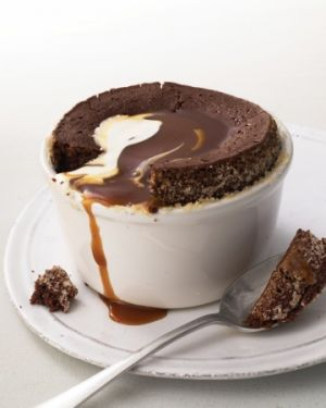 Warm Chocolate Pudding Cakes with Caramel Sauce - Martha Stewart