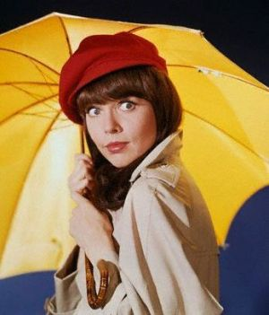 TV show fashion history - Get Smart - Barbara Feldon with yellow.jpg
