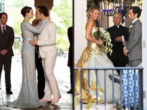 TV show fashion history - Gossip Girl - Blair and Serena wedding dresses.jpg