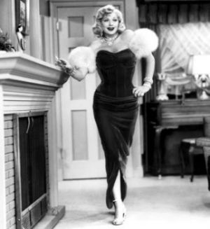 TV show fashion history - I Love Lucy as a vamp.jpg