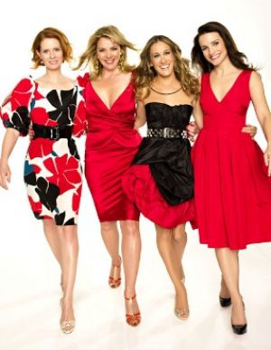 TV show fashion history - Sex and the City red hot fashion.JPG