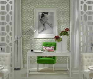 Colours of green - myLusciousLife.com - desk and chair in luscious apartment.jpg