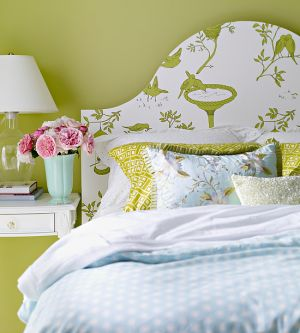 Decorating with the colour green - myLusciousLife.com - Green bedroom.jpg
