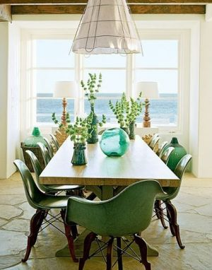 Decorating with the colour green - myLusciousLife.com - dining room.jpg