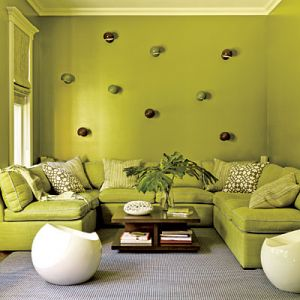 Decorating with the colour green - myLusciousLife.com - tv-room-in green.jpg