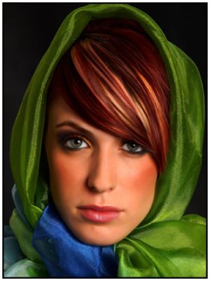 Green clothes shoes accessories - myLusciousLife.com - Becky in Green Scarf.jpg