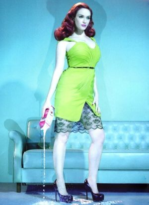 Green clothes shoes accessories - myLusciousLife.com - Christina Hendricks GQ magazine.jpg