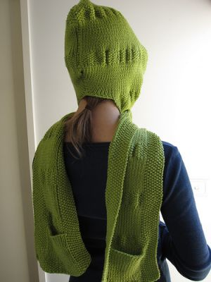 Green clothes shoes accessories - myLusciousLife.com - Green beanie scarf.jpg