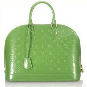 Green clothes shoes accessories - myLusciousLife.com - louis vuitton green spring bag.jpg