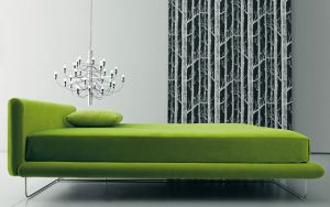 Green home decor photos - myLusciousLife.com - Avalon Upholstered Bed from Living Divani.jpg
