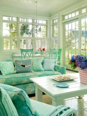 Green home decor photos - myLusciousLife.com - Better Homes and Gardens summer room.jpg