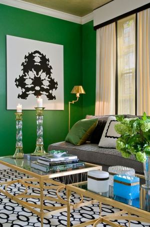 Green home decor photos - myLusciousLife.com - Gold and Green Living room.jpg