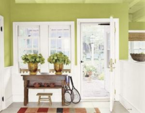 Green home decor photos - myLusciousLife.com - apple-green-entryway1.jpg