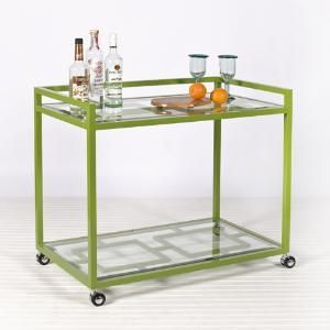 Green home decor photos - myLusciousLife.com - green and glass bar cart.jpg