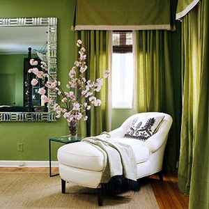 Green home decor photos - myLusciousLife.com - green-window-dressings.jpg