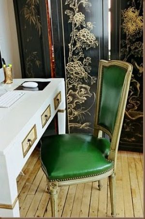 Green home decorating - myLusciousLife.com - emerald green leather chair.jpg