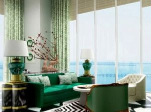 Green home decorating - myLusciousLife.com - emerald green sofa.jpg