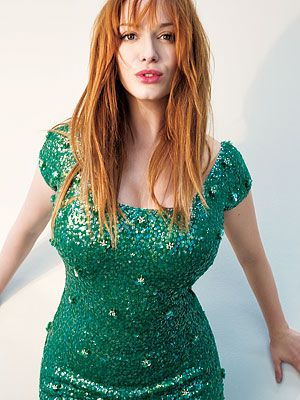 Green photo gallery - myLusciousLife.com - Christina Hendricks - emerald green.jpg