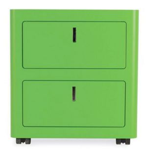 Nightstand Cbox Two-Drawer Pedestal in green by Gianmarco Blini.jpg