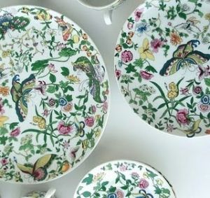 The colour green - myLusciousLife.com - beautiful floral china bowl.jpg