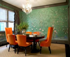 modern chinoiserie decor dining table and chairs2.jpg