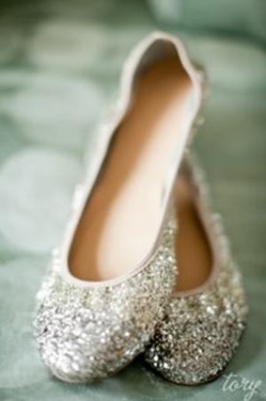 Bling Fling J Crew Lula Glitter Ballet Flats
