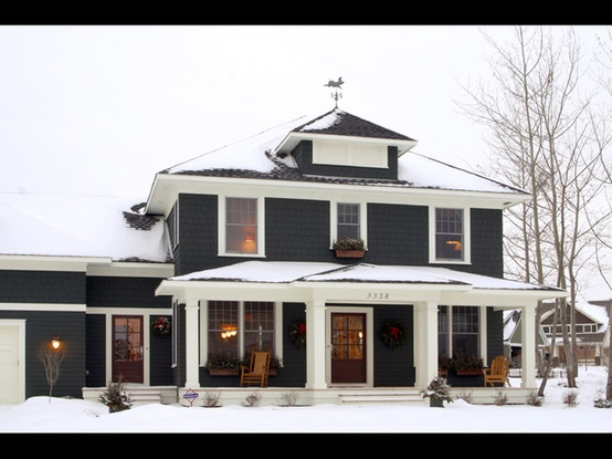 Beautiful ... Black House With White Trim   Exterior ...
