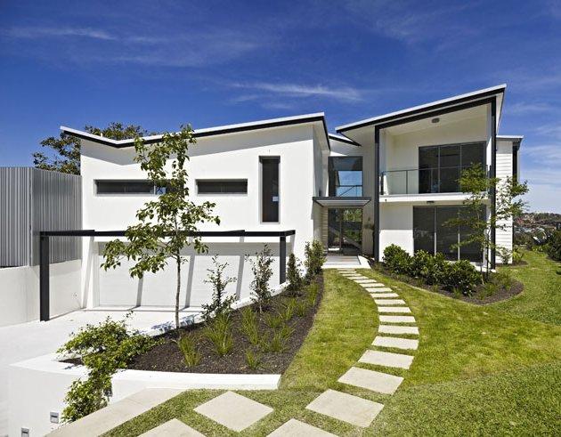 Black And White Two Pavillions House Design Mylusciouslife