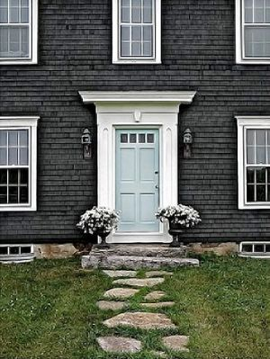 dark grey shingle house with white trim - mylusciouslife.com.jpg
