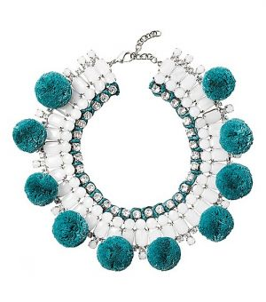 Buy Tory Burch online - Tory Burch Pom-Pom Resin Necklace.jpg