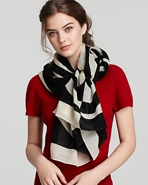 Online shopping of - Tory Burch Black & White Printed Reva Scarf.jpg