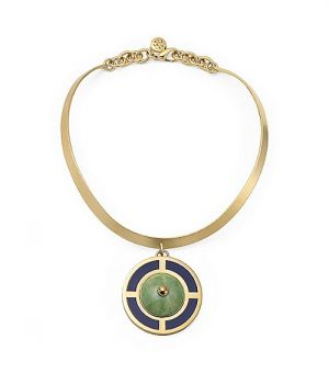 Tory Burch Lilian Pendant Collar Necklace - www.mylusciouslife.com.jpg