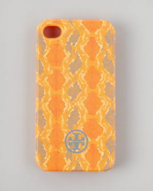 Tory Burch Pop Snake-Print Soft iPhone 4 Case Orangina.jpg
