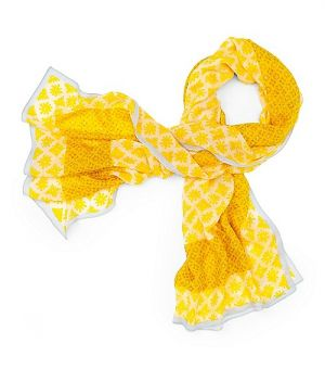 Website for online shopping - Tory Burch Layton Mix Print Scarf  - yellow.jpg