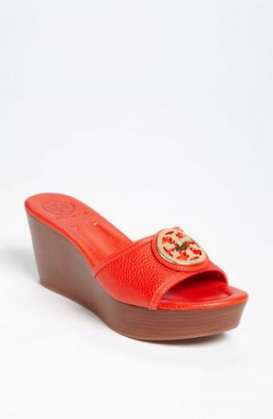 shoes tory burch sale - Tory Burch Selma Wedge Sandal Flame Red 8 M.jpg