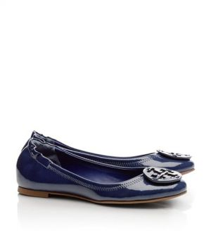 tory burch ballerina - Tory Burch shoes - polished PATENT REVA BALLET FLAT.jpg